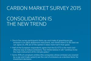Thompson Reuters Carbon Market Survey 2015