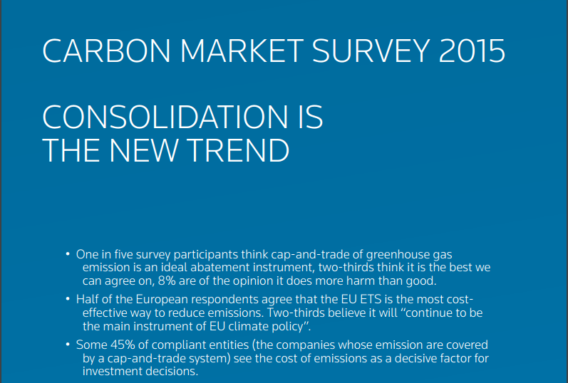 Thompson Reuters Carbon Market Survey 2015
