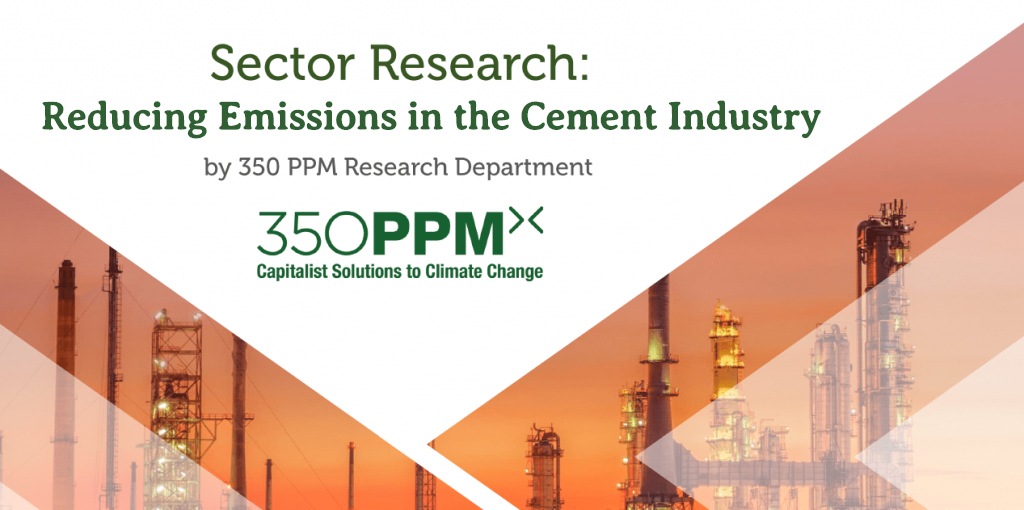 Sector Research: Reducing Emissions in the Cement Industry
