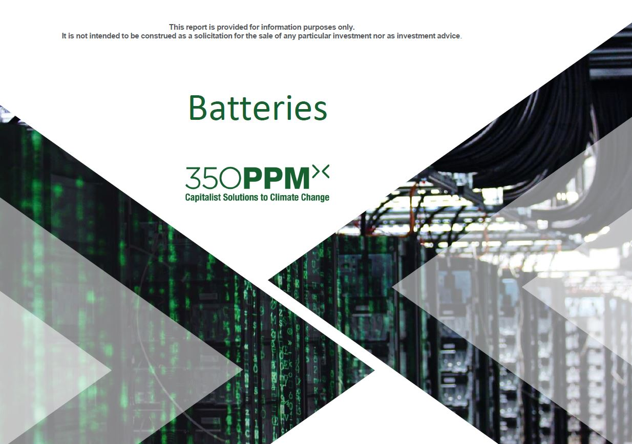 Batteries – Sector Research by 350 PPM